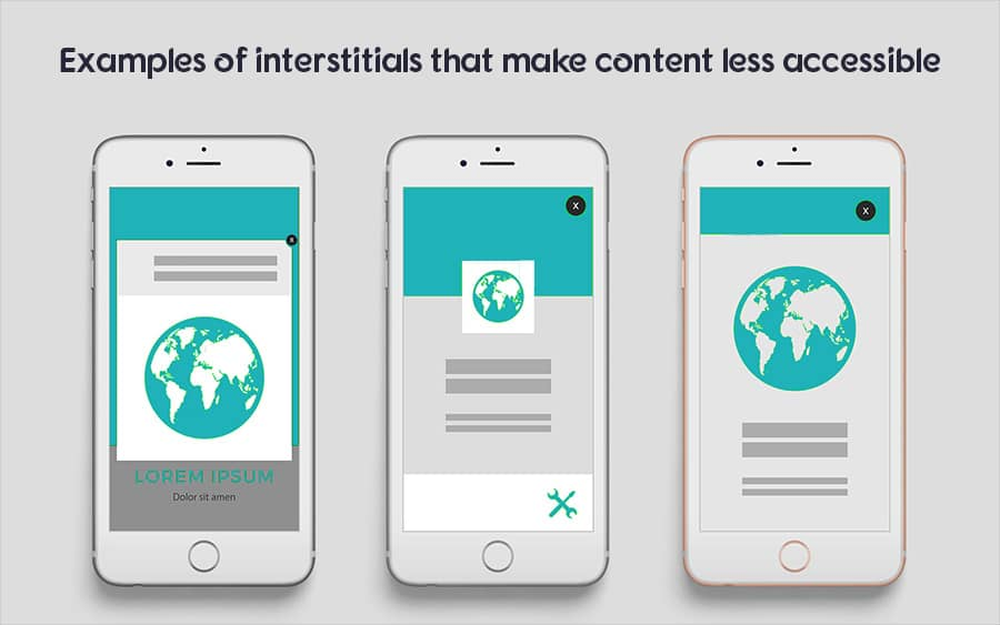 Avoid Google intrusive interstitials penalty