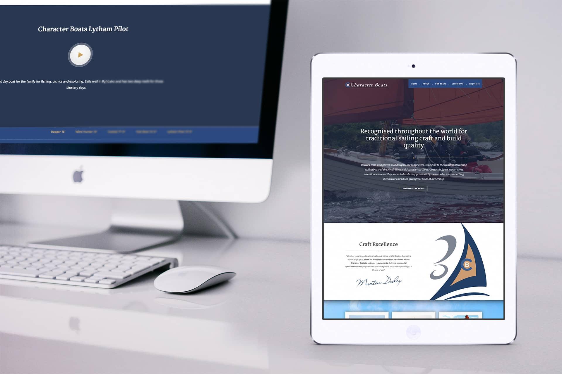 boat web design
