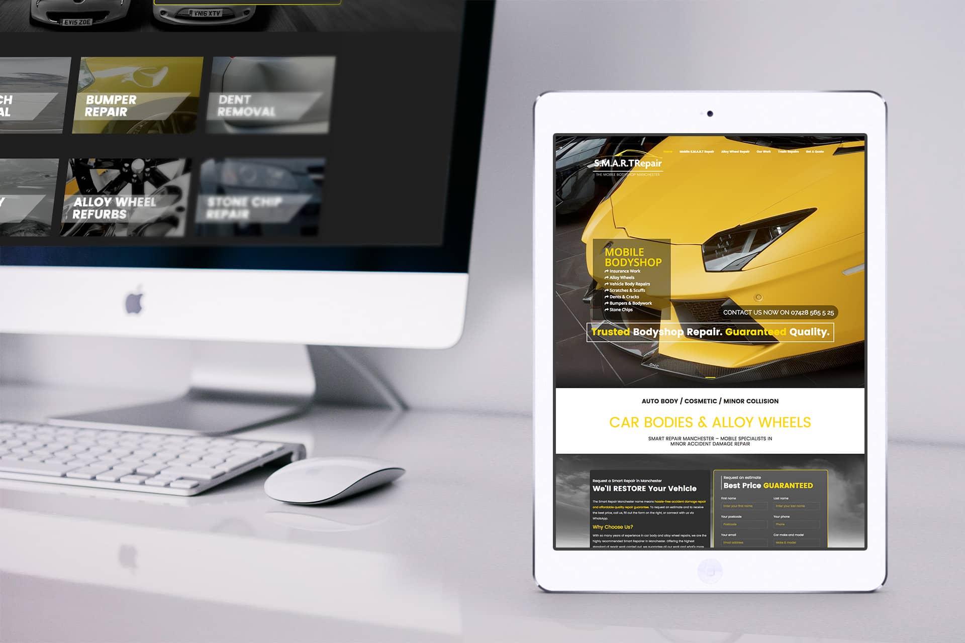 car repair web design