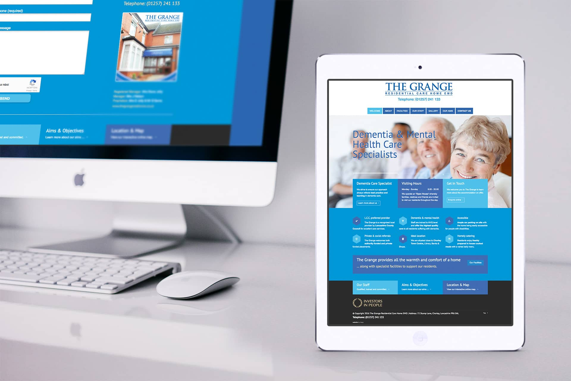 care home web design