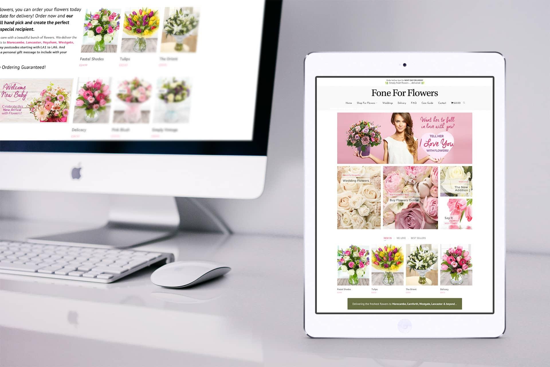Florists shop website designers Lancashire