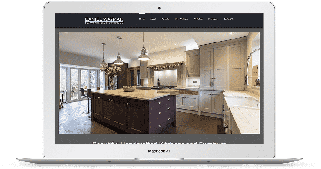 Kitchen company web design
