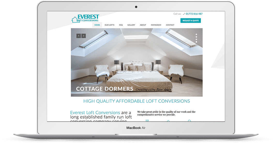 loft conversion company web design