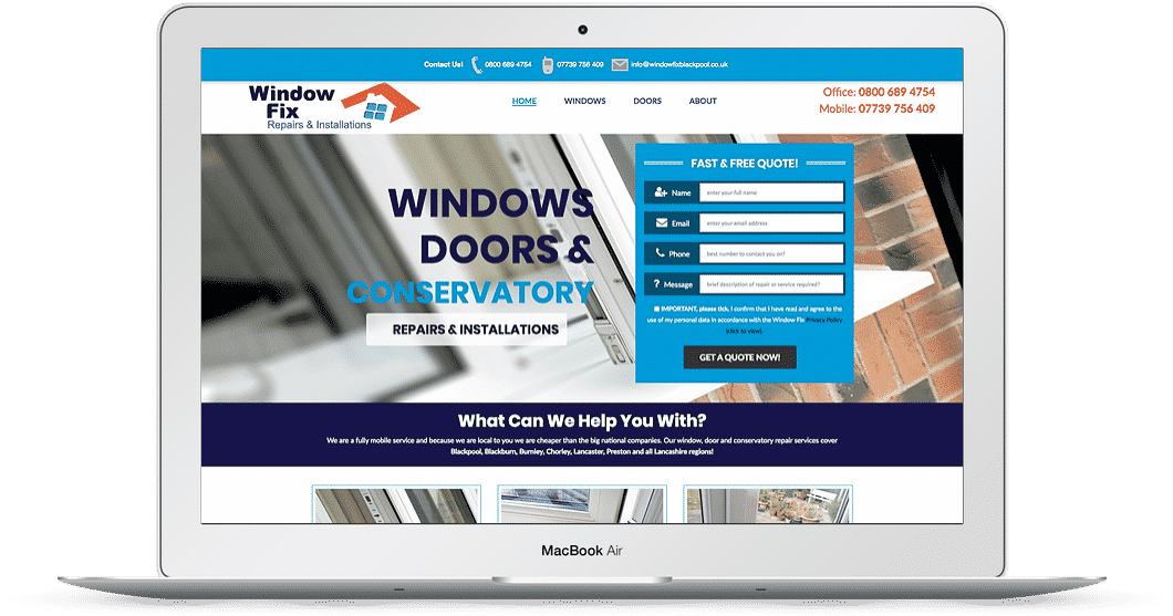 Installers website design